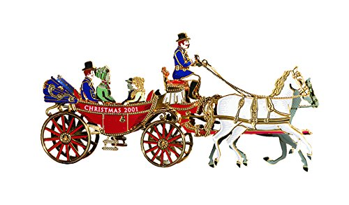 2001 White House Christmas Ornament, A First Family's Carriage Ride (White House Historical compare prices)