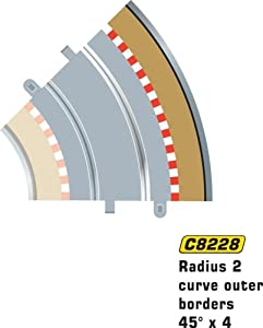 Scalextric C8228 Radius 2 Outer Border/Barrier 45 degree 1:32 Scale Accessory