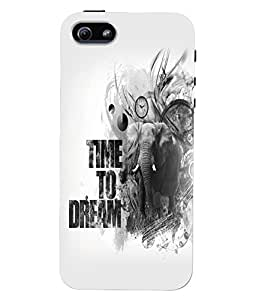 Fuson 3D Printed Quotes Designer Back Case Cover for Apple iPhone 5 - D1055