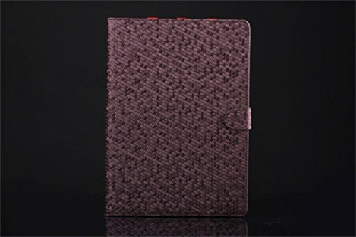 Apple Ipad Air 2 Case Borch Fashion Luxury Multi-Function Protective Crystal Series Leather Light-Weight Folding Flip Smart Case Cover For For Ipad Air 2 (Purple)