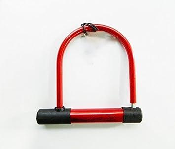 Cadenas antivol rouge en en u pour velo et moto 185 185 x 175 mm bricolage z414 - Cadenas pour velo ...