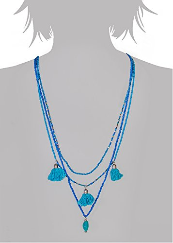 Fashion Fashion Infinite Blue Seed Beads Long Necklace