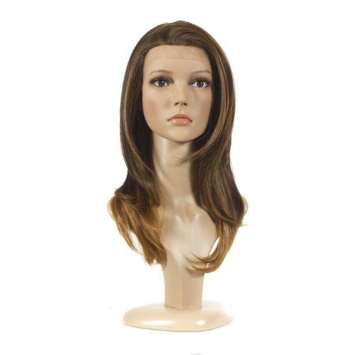 Longer Length Straight Lace Front Wig | Ombre Brunette and Caramel Two Tone Wig | Lace Front Wig