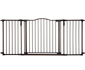 North States Supergate Deluxe Décor Metal Gate, Brown