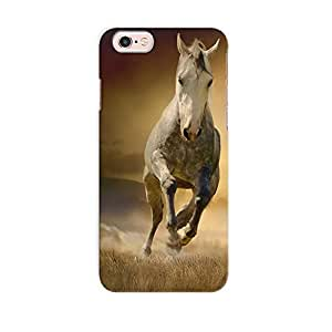 ArtzFolio White Horse In Sunset : Apple iPhone 6S Matte Polycarbonate Original Branded Mobile Cell Phone Designer Hard Shockproof Protective Back Case Cover Protector