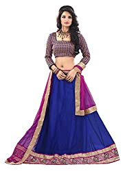 MK Enterprise  Blue Georgette Lehenga Choli