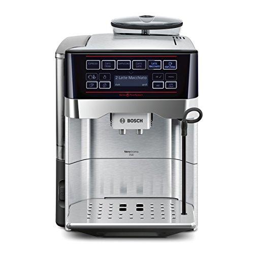 Bosch TES60759DE Kaffeevollautomat VeroAroma 700 OneTouch Zubereitung/Double Cup (1500 W, 1,7 L, 19 bar, Cappuccinatore) edelstahl thumbnail