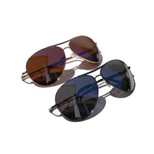 QLook Aviator Curved Sunglasses w/Mirrored Lens -2 lot