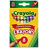 Crayola Crayons 8 in a Box (Pack of 12) 96 Crayons Total