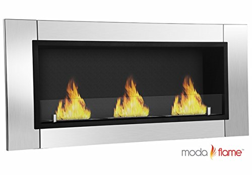 Moda Flame Devant Ventless Bio Ethanol Mad Mounted Fireplace