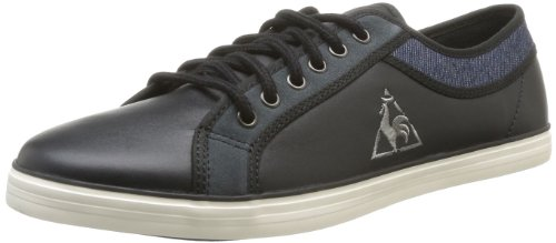 Le Coq Sportif Mens Honfleur Lea/Denim Lace-Up Flats