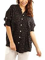 Maison du Lin Camisa Mujer E17 Dublin L (Negro)