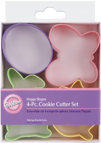 Wilton Hoppy Shapes 4-Piece Easter Cookie Cutter Set