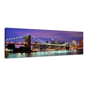 Visario 5701 Tableau sur toile de lin New York 120 x 40 cm