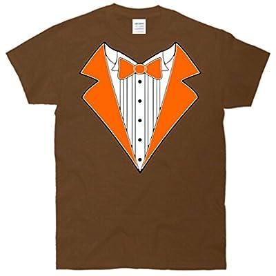 ORANGE TUXEDO Wedding Bachelor Prom TUX Tee T-Shirt