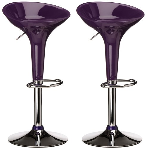 Mojo Bar Stool [Set of 2] Colour: Purple