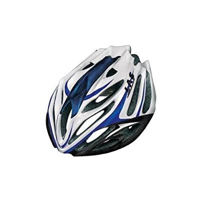 Las Anubi Mens Cycle Road Bike Helmet - Blue/white/carbon from Las