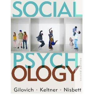 social psychology paper tom gilovich , dach