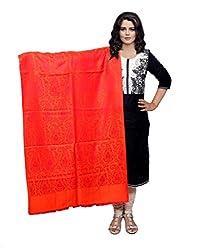 IndistarFashion Women Red Viscose Shawl