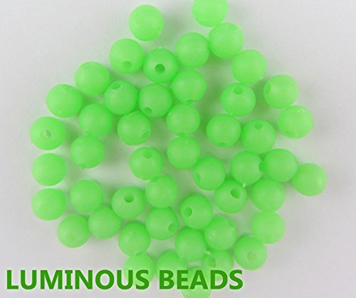 200pcs/lot 4mm*4mm Premium Green Color Small Round Soft Rubber Luminous Beads Lumo Glow Beans Sabiki Snapper Rig Lure Box