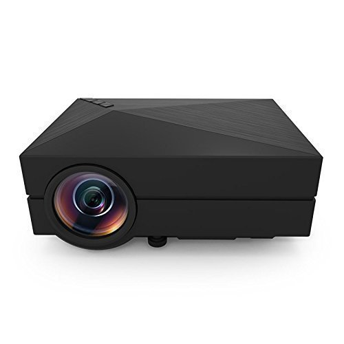NEXTPAGE-Soldcrazy-1000-lm-Mini-LED-Projector-800-x-480-Resolution-for-Video-Games-Home-Theatre-Movie-Support-VGAHDMIUSBAVSD-Card-GM60-Black