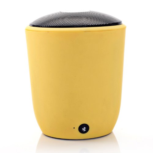 Hayabusa Tm High Quality Gift Box Bluetooth Stereo Hands-Free Calls High-End New Gift Glass Speakers (Yellow)