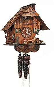 """10"""" Cuckoo Clock with Owl and Squirrel"""