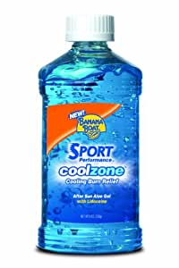 Banana Boat After Sun Sport Performance Cool Zone with Aloe Burn Relief Gel - 8 Ounce (Pack of 2)