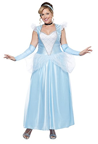 California Costumes Women's Plus-Size Classic Cinderella Long Dress Gown