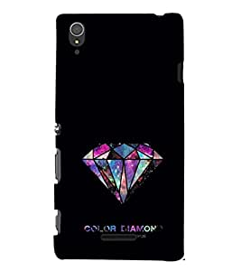 EPICCASE Color Diamond Mobile Back Case Cover For Sony Xperia T3 (Designer Case)