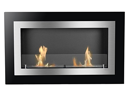 Ignis Ventless Bio Ethanol Fireplace Villa with Safety Glass