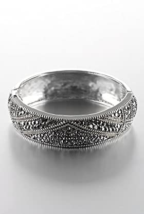 Multi-Faceted Bead Decorative Bangle