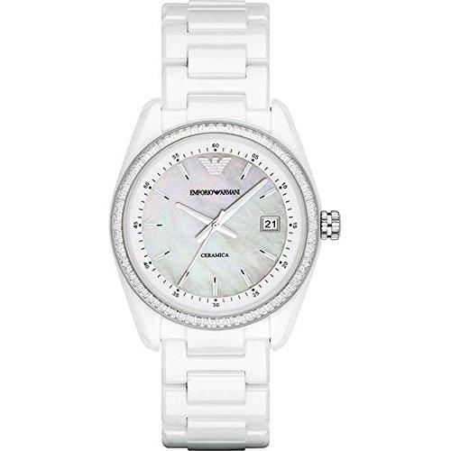 Reloj Emporio Armani Cerámica Ar1497 Mujer Nácar
