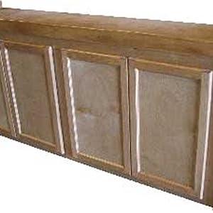 R&J Enterprises ARJ00471 Birch Wood Aquarium Cabinet Stand, 72 by 18-Inch, Honey