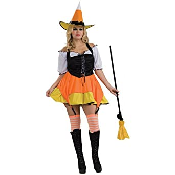 Candy Corn Witch Costume - Plus Size - Dress Size 16-20