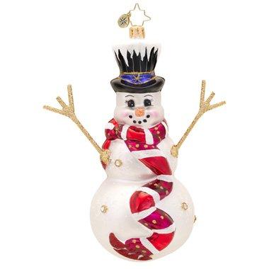 Christopher Radko Snowflake Glider Glass Christmas Ornament 2014
