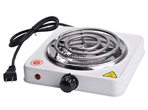 Cooktops Single Electric Burner Portable Hot Plate Stove Camping Cook Dorm RV Countertop Electric Kitchen Stove (Viking Double Oven Parts compare prices)