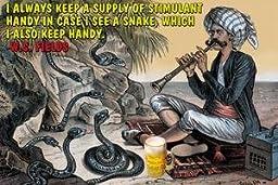 30 x 20 Canvas. I always keep a supply of stimulant incase thr is a snake