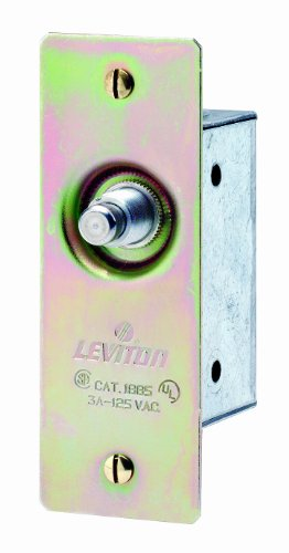 Leviton 1865 3 Amp, 125 Volt, Single-Pole, Doorjamb with Jamb Box Switch, Single Circuit Momentary, Normally ON, Commercial Grade, Brass (Leviton Door Switch compare prices)