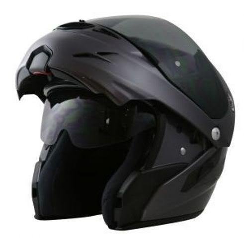 Nitro F347-VN DVS Satin Black Flip Up Motor Cycle Helmet SMALL