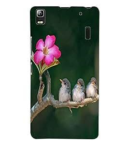 ColourCraft Lovely Birds Design Back Case Cover for LENOVO A7000 TURBO