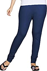 Red Chilli Women's Cotton Slim Fit Leggings (alg_029_rc, Free Size, Oxford Blue)