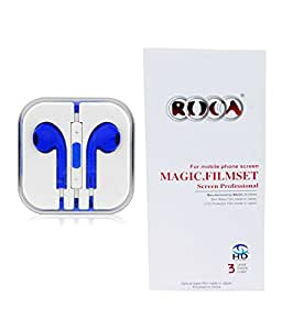 Combo offer Earphone and Screen Guard Protector for Samsung Grand 2