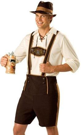 Adult German Tavern Beer Man Hansel Halloween