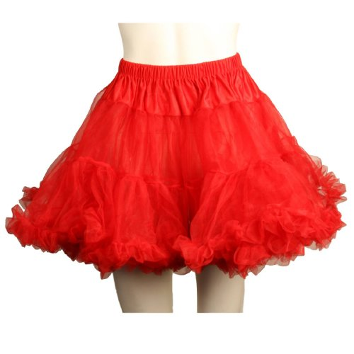 Charades Costumes - Layered Tulle (Red) Adult Petticoat