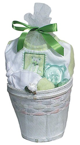 Raindrops Furry Friends Teddy Bear Footie Gift Set, Pistachio Green, 3-6 Months, 4 Piece