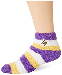NFL Minnestoa Vikings Women's Fuzzy Sleep Socks, One Size