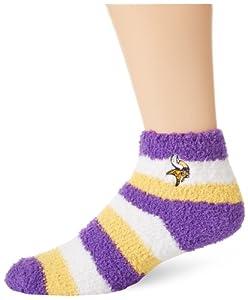 NFL Minnestoa Vikings Women's Fuzzy Sleep Socks, One Size