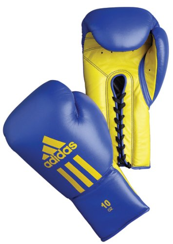 Adidas Glory Professional Boxing Gloves - Blue/Yellow - 10oz