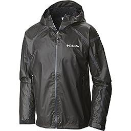 Columbia Men\'s OutDry Ex Gold Tech Shell Jacket, Black, XL